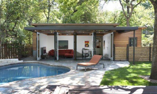 Travis Heights Guest House Modern Pool Austin