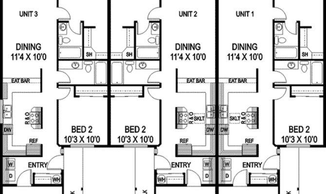 Triplex Floor Plans Garages Joy Studio Design