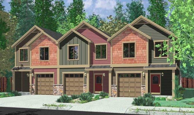 Triplex House Plans Multi Homes Row