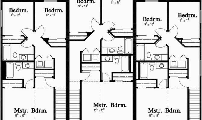 Triplex House Plans Unit Multiplex