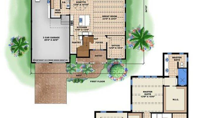 Tropical Home Plan Floor Plans