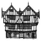 Tudor House Ink Drawing
