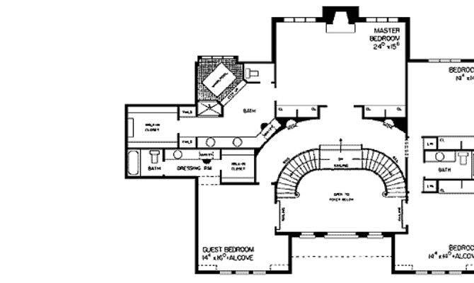 Tudor Manor Grand Double Staircase