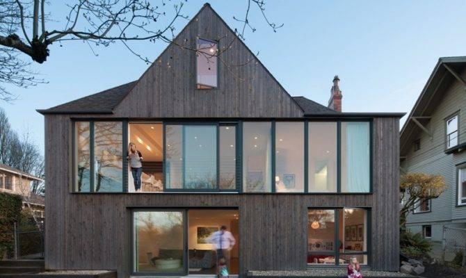 Tudor Style Home Seattle Gets Bold Modern Rear Facade