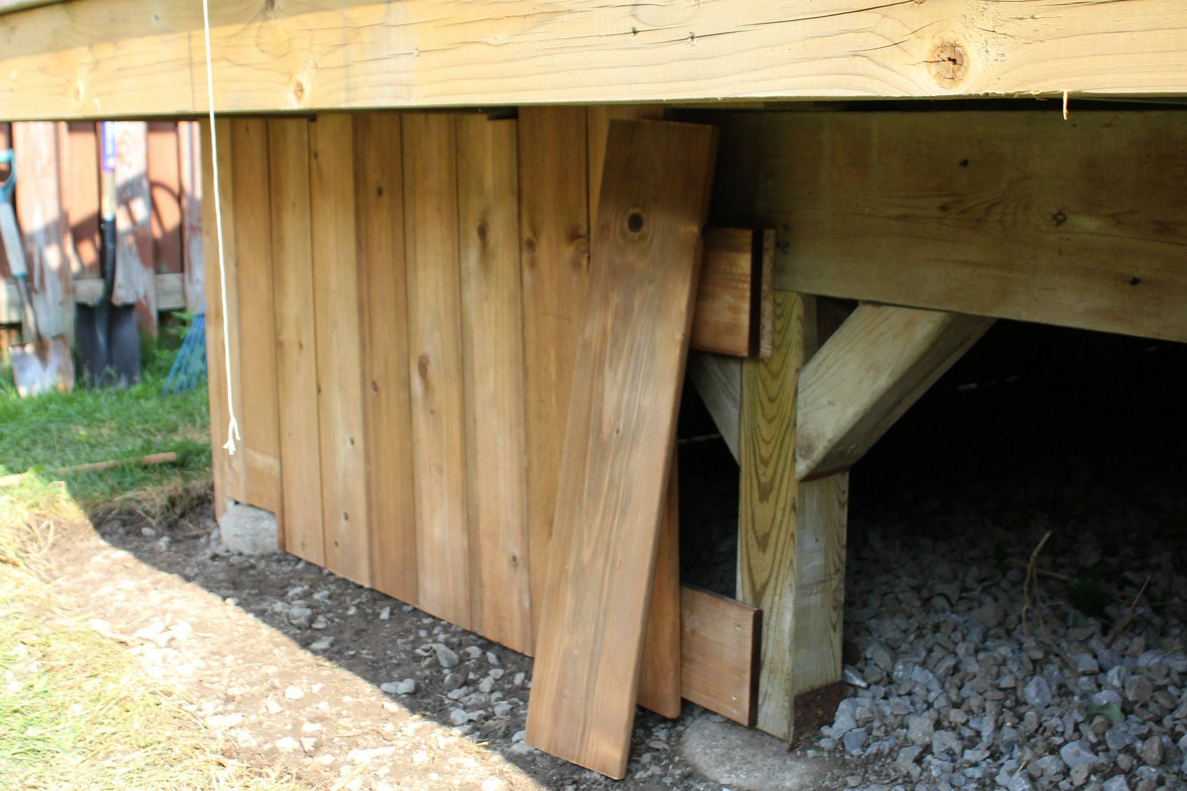 Turtles Tails Under Deck Enclosure Access Door