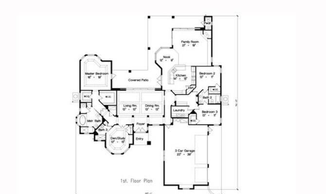 Tuscan House Plan Total Living Area