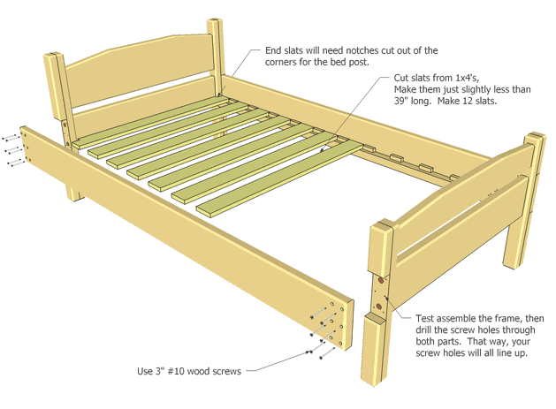 Twin Bed Plan