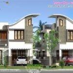 Twin House Design Kerala Home Floor Plans