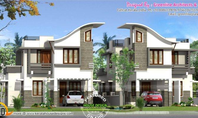 Twin House Design Kerala Home Floor Plans