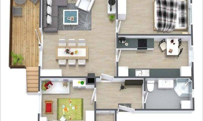 Two Bedroom Apartment Ideal Small
