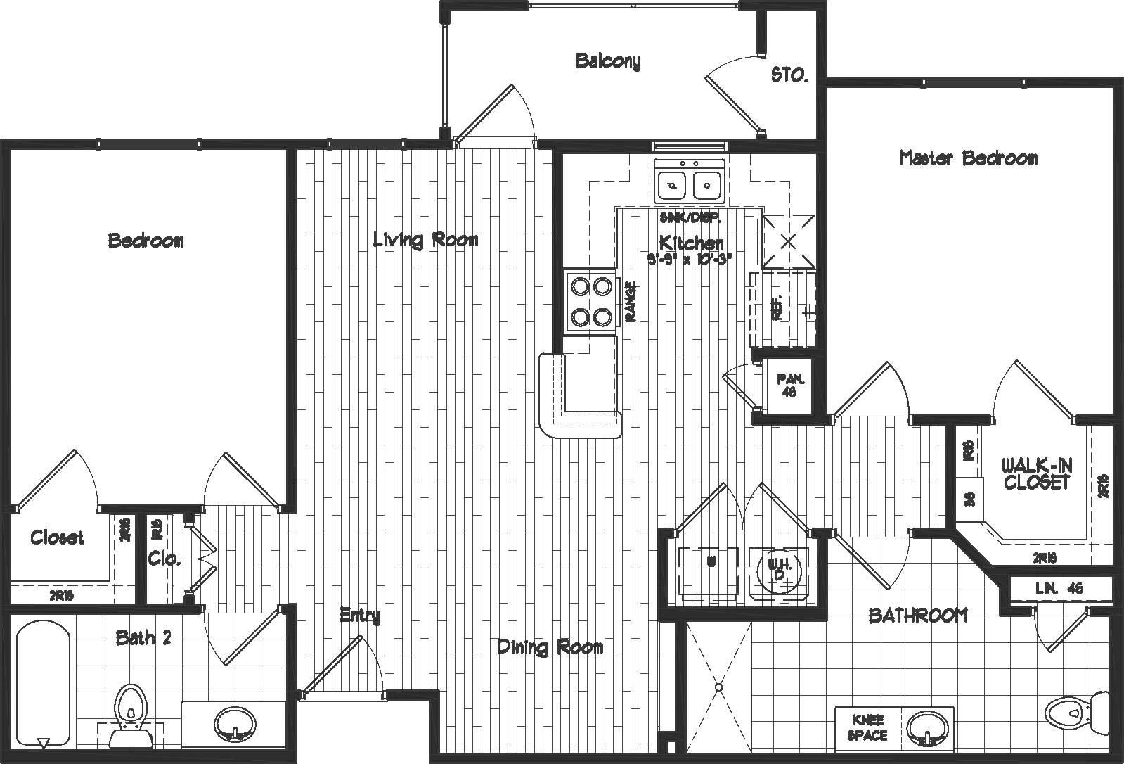 Two Bedroom Bath Floor Plans Real Estate