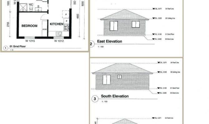 Two Bedroom Flat Floor Plan Elevations