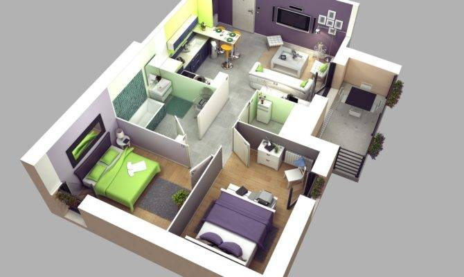 Two Bedroom House Plan Interior Design Ideas