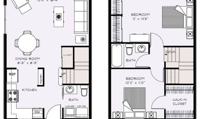 Two Bedroom Townhouse Floor Plans Talent