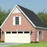 Two Car Garage Plans Loft Plan Reverse Gable