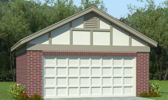 Two Car Garage Plans Plan Reverse