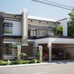 Two Double Storey Houses Small Balcony Amazing Architecture