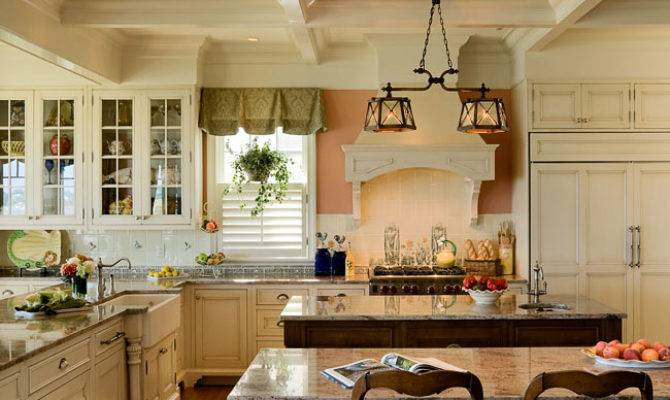 Two Kitchen Islands Residential Coastal Waterfront Home Atlantic