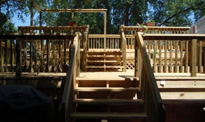 Two Level Deck Decking Ideas Pinterest