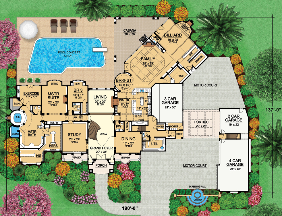 Two Mansion Plans Dallas Design Group Homes Rich