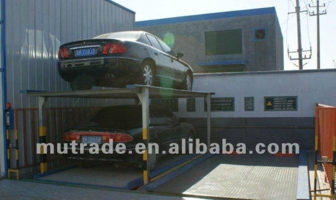 Two Post Tilting Mechanical Hydraulic Car Home Garage Levels Parking