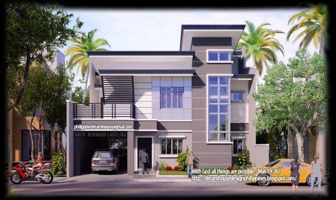 Two Storey Modern House Front Designs Philippines