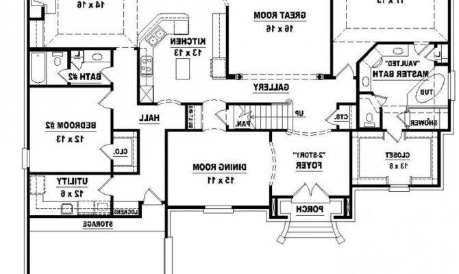 Two Story Bedroom Bath French Style House Plan Fresh