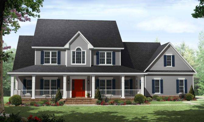Two Story Country House Plans Amazing Farm Excellent