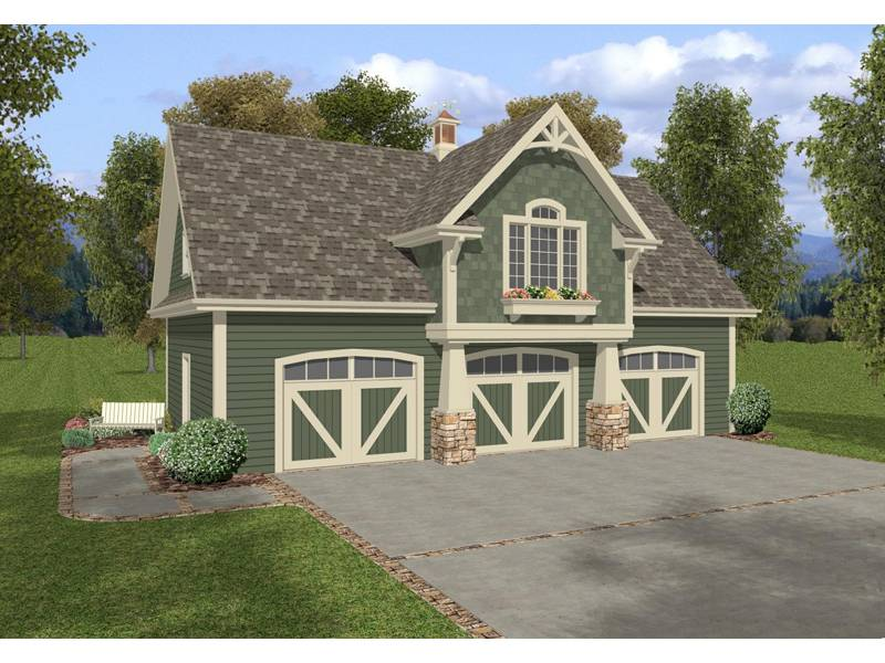 Two Story Craftsman Style Apartment Garage Planter Box