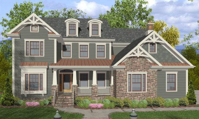 Two Story Craftsman Style Home Has Great Trim Details