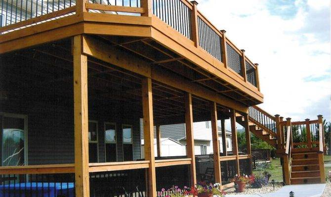 Two Story Deck Kcb Outdoors Pinterest