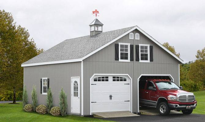 Two Story Double Wide Garages Storage Sheds
