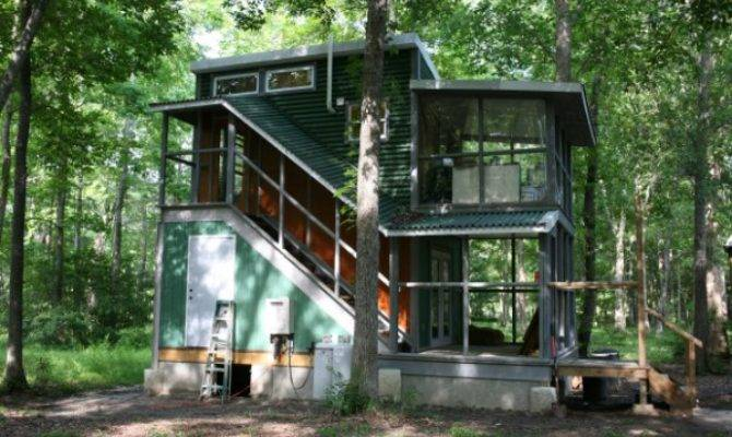Two Story Foundation Tiny House Hobo