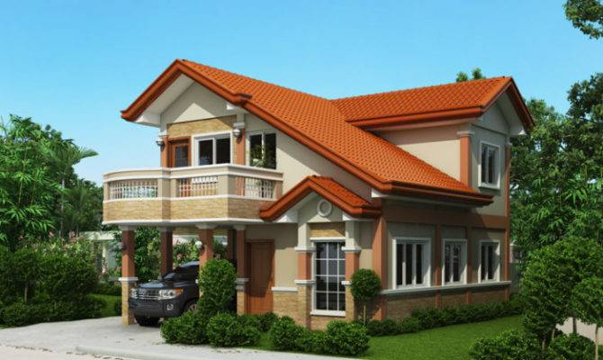 Two Story Home Design Balcony Architecture Art