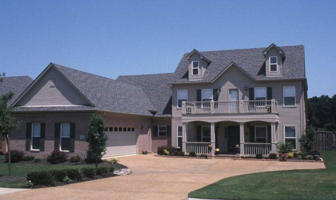 Two Story Home Plantation Style Covered Porch Balcony