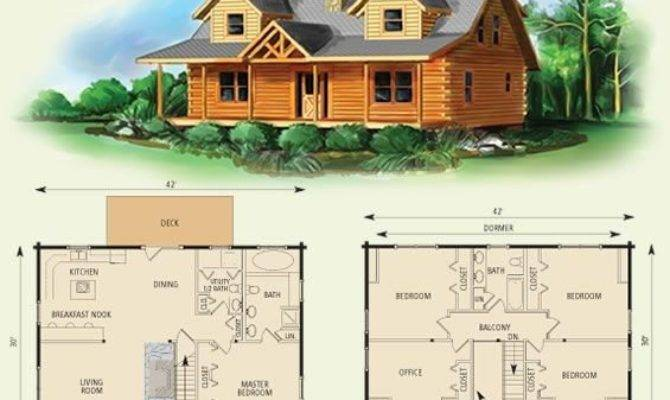 Two Story Log Cabin House Plans Awesome Best