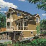 Two Story One Bedroom Plan Sloped Lot