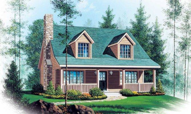 Two Story Vacation Home Plan Architectural
