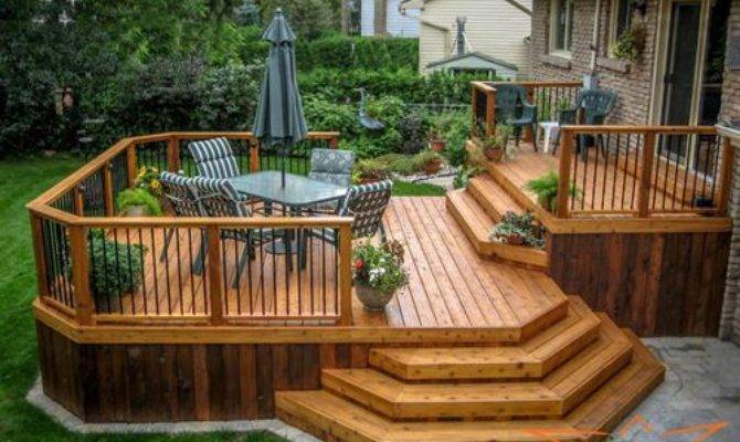 Two Tier Deck Ideas Remodel Decor