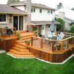Two Tiered Deck Design Ideas Remodels Photos Decks