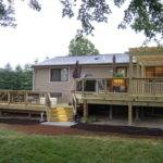 Two Tiered Treated Lumber Deck Batavia Area Thomas Decks Llc