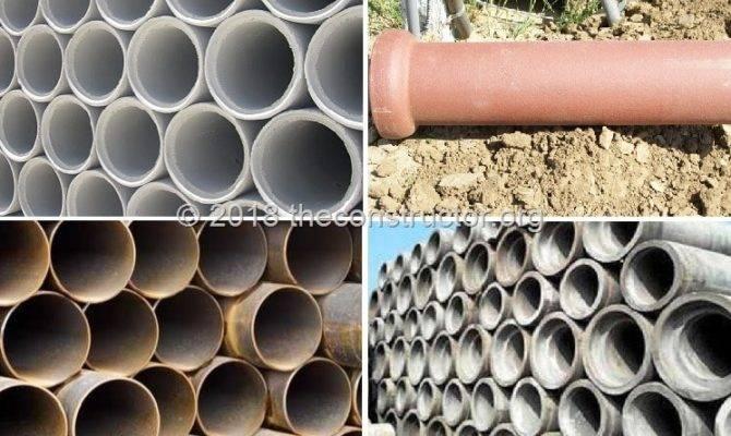 Types Underground Drainage Pipes