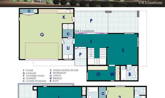 Ultra Modern Live Work House Plan Custom