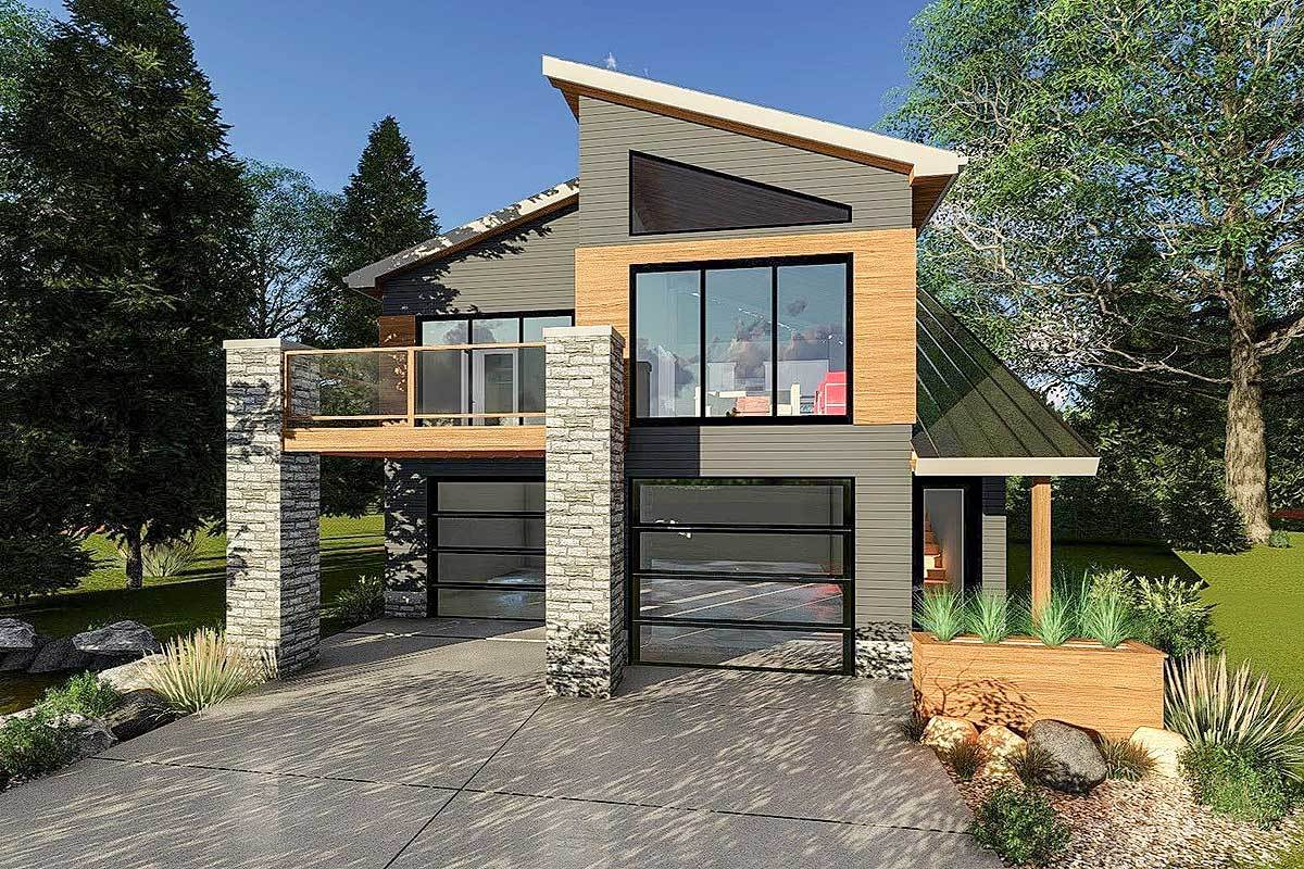 Ultra Modern Tiny House Plan Architectural