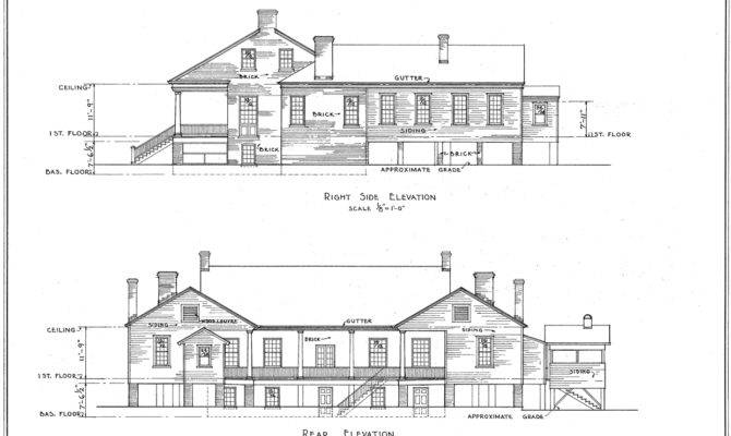 Umbria Plantation Architectural Drawing West