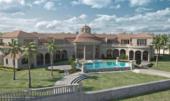 Unfinished Palm Beach Mansion Listed Sale