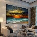 Unframed Home Decor Canvas Print Modern Wall Art Seascape