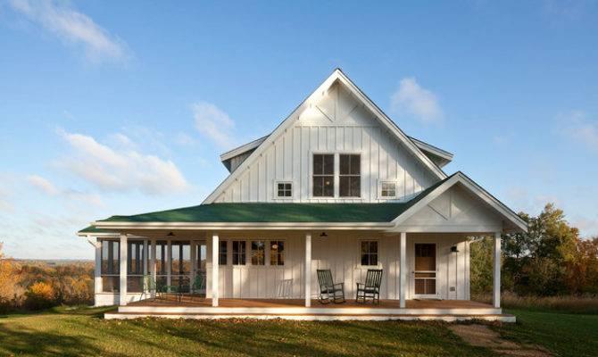 Unique Farmhouse Mid Porch Plans