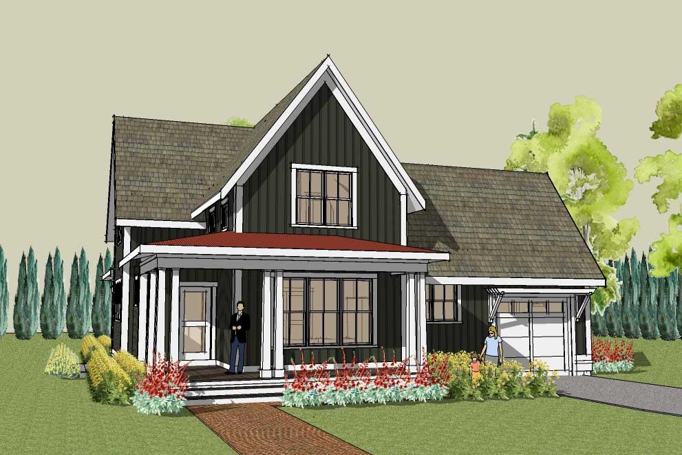 Unique Farmhouse Plan Hudson