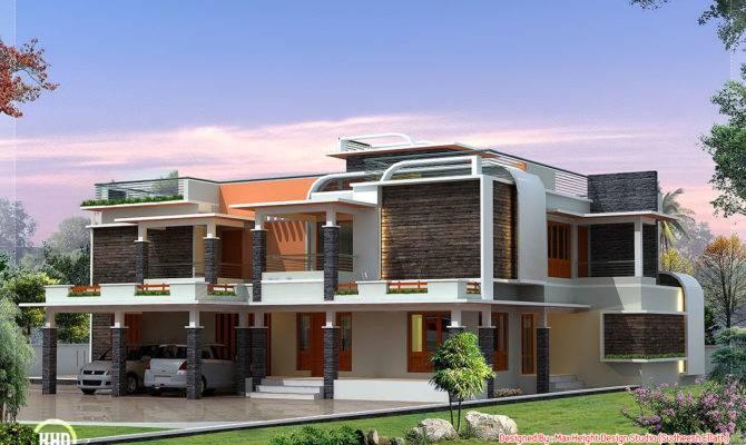 Unique Modern Villa Design Kerala Home Floor Plans